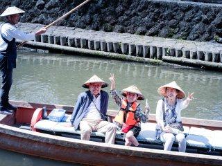Happy visitors on the Uzawa River