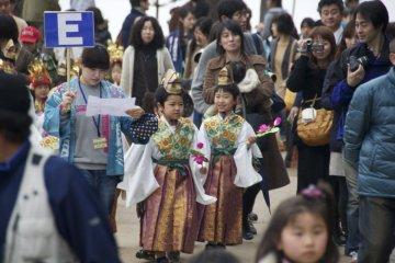 Cute kids in colorful dress