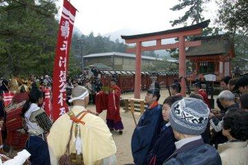 Final blessings at Kiyomori Shrine