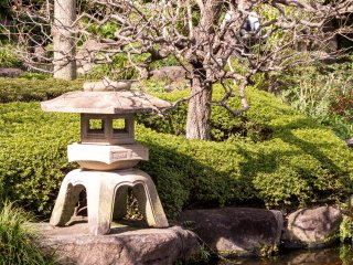 Entering the gates, you are greeted by a view of traditional Japanese gardens