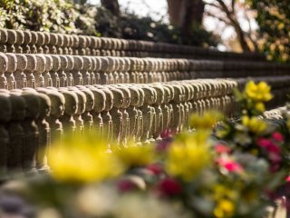Hundreds of tiny jizo statues, whose purpose is to care for souls of unborn children and of those who die at a young age, line the walls next to the Jizo hall