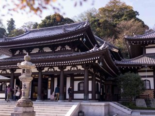 The Amida-do and Kannon-do halls, housing two of the temple's most powerful statues, overlook the complex from the top of the hill