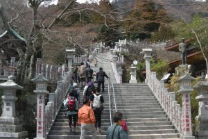 A short climb from the cable car to the shrine