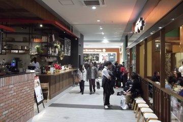Restaurants on the fourth floor