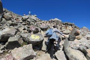 Mt Chausudake rock climbing