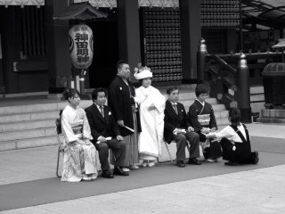 Japanese weddings are held at Shinto shrines