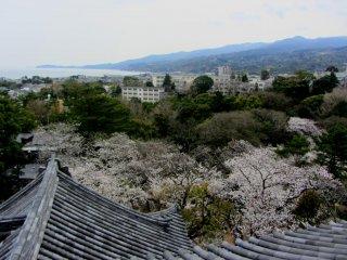 Vista da cidade a partir do topo do castelo