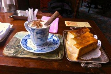 Cinnamon Dip at Nishimura Coffee