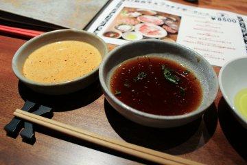 Shabu shabu dipping sauces