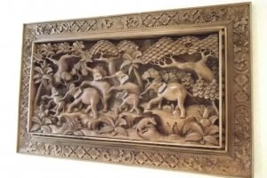One of the decorative carvings.