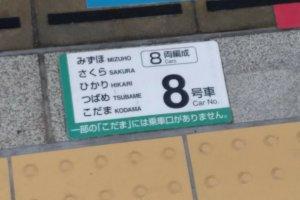 A informação também está marcada no chão junto da zona sem gradeamento. Confronte estes dados com o que está indicado no seu bilhete, para saber onde se posicionar