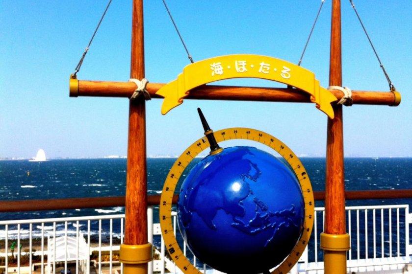 Umitoharu, Tokyo BayOasis signs on the 5th deck