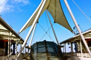 Umihotaru, decorative sail located on 5th deck
