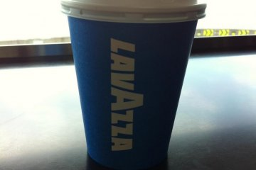 Umihotaru, a cup of delicious Italian coffee, LaVazza, from IDEBOK