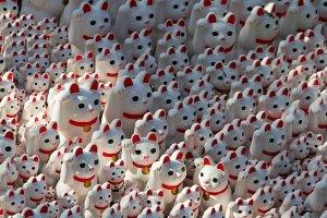 ตุ๊กตามะเนะกิ เนะโกะ (Maneki Neko) ตุ๊กตาแมวกวักหรือแมวนำโชค