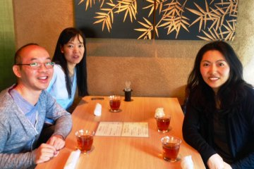Some of the friendly people at Osaka International Church