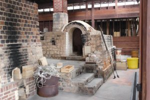The kiln at Kakiemon pottery