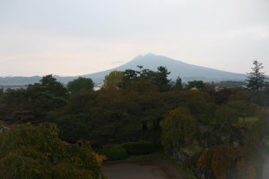 Hirosaki Park with Mt Iwaki in the background