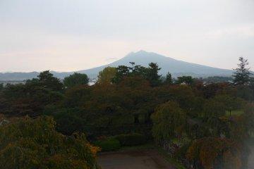 Hirosaki Park with Mt Iwaki in the background
