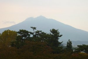 Close up of Mt Iwaki as seen from Hirosaki Park