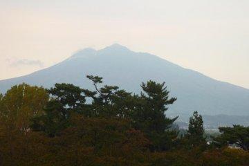 Close up of Mt Iwaki as seen from Hirosaki Park