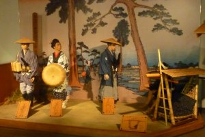 Part of the Tokaido display in the Honjin Museum