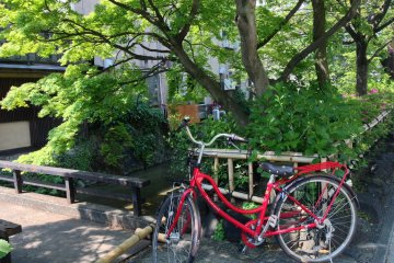 The waterways and canals of Kyoto are just a short ride away