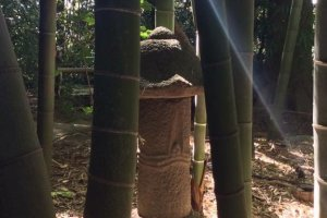 The bamboo groves and statuary are timeless