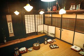 Inside Mr. Ushino's tearoom