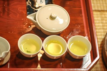 The Nigami (bitter) tasting of the tea