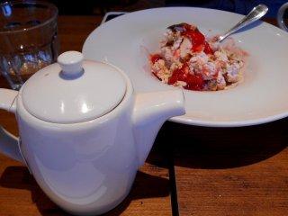 Kem dâu thực sự tuyệt vời! Món này giúp cân bằng vị chua chua nhưng hài hòa của mì Ý và các món khai vị.