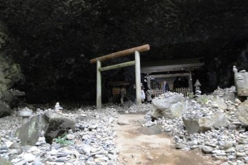 The cave where sun goddess Amaterasu hid