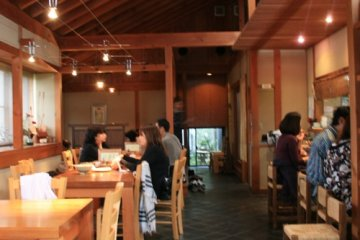 The interior of Matsuo is relaxing, and the aroma from the open kitchen is inviting.