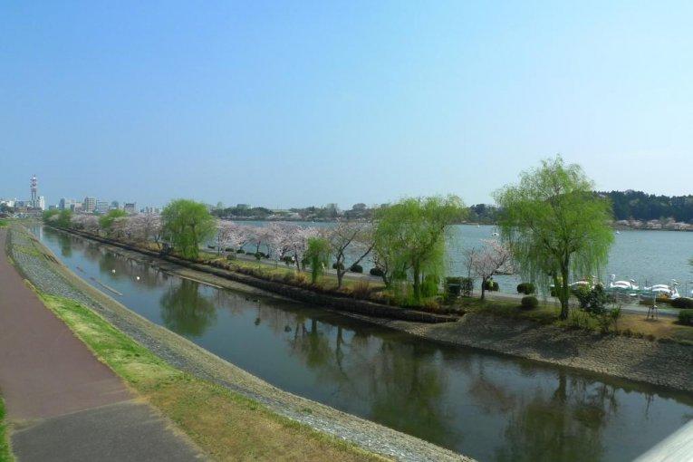 Hồ Senba vào mùa xuân