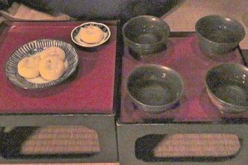 Green Tea and Sweets at Tanakaya Tea House