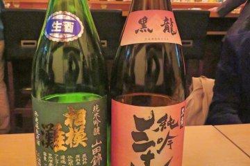 Kokuryu and Sagaminada Sake