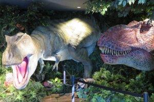 Dinosaurs in lobby