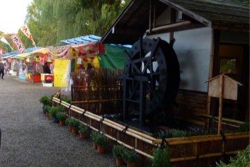 Little waterwheel house at Hirosaki Botanical Gardens