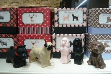 GIANNAROSEATELIER推出的可愛小狗形狀的香皂