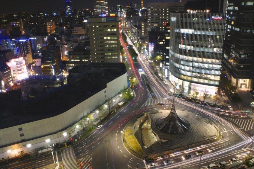 Nagoya Shinkansen Station traffic circle