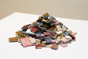 Etalage de vieux livres