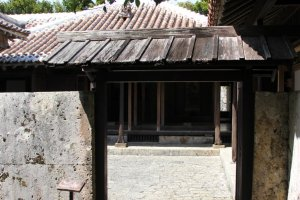 The stone entry way as it ends into the courtyard of the Nakamra House.