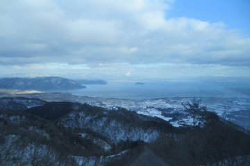 The stunning Lake Biwa from the Gondola