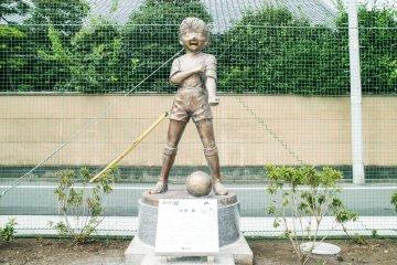Estatua de bronce:Tsubasa Ozora