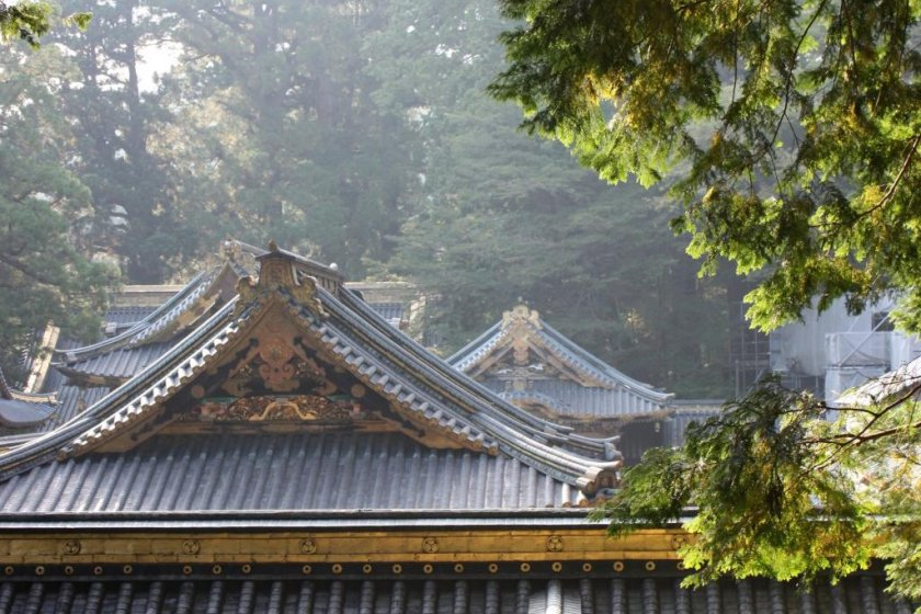 Even the rooftops at Nikko are beautiful - is this the view that impressed Isabella?