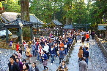 The shrines and temples at Nikko are definitely not a secret ... you'll likely have to battle through the crowds to see them!