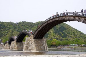 The beautiful Kintai-kyo Bridge