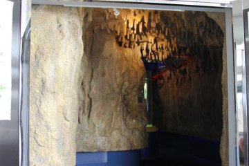 <p>The entrance to the bat-themed cave</p>
