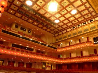 The interior of Minamiza Kabuki theater is simply stunning.