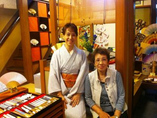 Hangesho Artisan Fan and Handicraft shop in Kyoto has been in the hands of the same family for many years